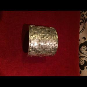 Jewelry - Unique Southwestern Sterling Silver Cuff Bangle